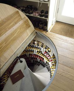 spiral wine cellar hatch with high quality swiss-made linear