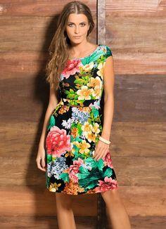 Vestido Curto Floral - Posthaus