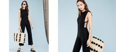 Show off your good sides. This is a relaxed fitting jumpsuit with open sides and side ties.