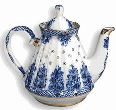 Russian - blue and white - teapot.