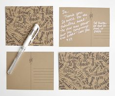 Free 'Thank You' Caligraphy printables - from Melissa Esplin at I Still Love You