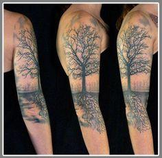 tree tattoo sleeve - Google Search