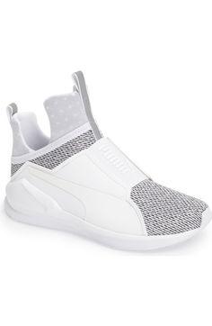 Fierce Knit Training Sneaker, White