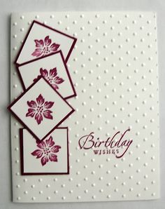 Could use any design in the tumbling blocks and any sentiment. Stamping Up Cards, Sympathy Cards, Paper Cards, Flower Cards, 21st Birthday Cards, Handmade Birthday Cards, Birthday Cards For Women, Birthday Wishes, Happy Birthday