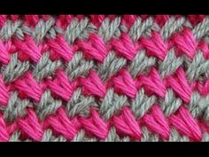Cómo Tejer Punto Cruzado en Colores-Cross Stitch 2 Agujas (275)