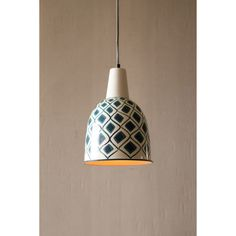 Blue Bell Pendant Light