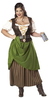 Plus Size Tavern Maiden Costume - Medieval and Renaissance Costumes