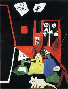 Picasso. Las Meninas, cuadro realizado el 19 de septiembre de 1957. http://4.bp.blogspot.com/_KTc0XnSRcX8/SU04KRFLzcI/AAAAAAAAALg/5qTOMkzmxsA/s1600-h/las+meninas+n32+19+septembre+1957+161x129cm.jpg#