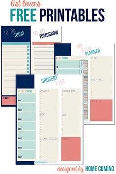 Free Printables for List Lovers by Home Coming, via Flickr