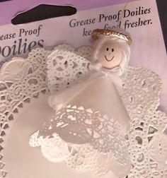 Paper doily angel ornaments // Karácsonyfadísz angyalkák tortapapírból // Mindy - craft tutorial collection