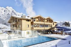 Good Life Resort Riederalm in Leogang Hotels, Outdoor Pool, Life Is Good, Chill, Winter, Mansions, House Styles, 1, Bullet Journal