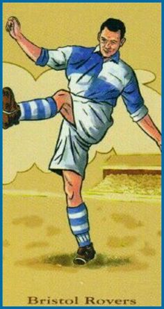 Bristol Rovers card showing the kit in 1956.