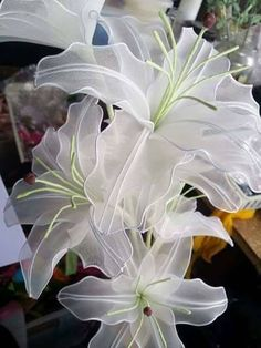 How to make stocking lily flowers - Easy Craft Ideas