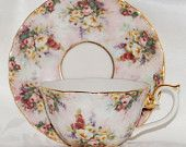 Glorious Chintz Tea Cup Remembrance hand painted from the  Lena Liu Collection ECS http://www.etsy.com/shop/Luluslovlies