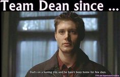 "This is dead on. As soon as Dean said that I took out my phone an texted my friend ""I love Dean."" XD (Supernatural)"
