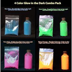 Blue Glow in the Dark & UV Powder, Waterproof (<50 Microns) 10 grams