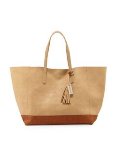 Love+Affair+Studded+Colorblock+Tote+Bag,+Camel/Chocolate+by+Urban+Originals+at+Neiman+Marcus.