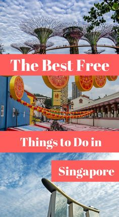 The best free things to do in Singapore. 11 Can't Miss Things To Do in Singapore. With great food, exciting nightlife, fantastic shopping and natural getaways, there is much to explore on this small but densely populated island. Click to read more at http