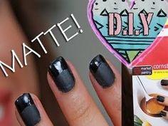 D.I.Y homemade MATTE NAIL Polish!!!
