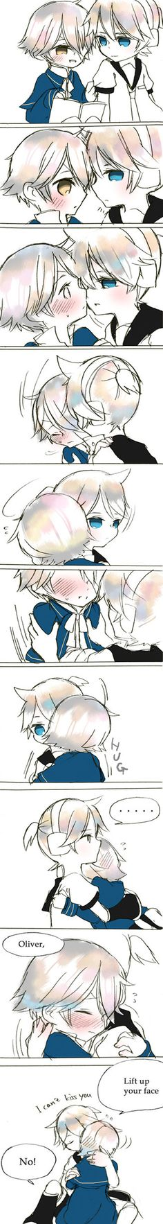 Len x Oliver  Just picking up Vocaloid, and I love this ship. (Kyaa~ So cute! >w< -Shailene)