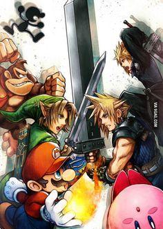 New Super Smash Bros. art drawn by Tetsuya Nomura himself!