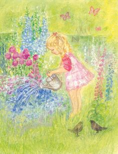 stardylia Children Playing. love this waldorf inspired artist.