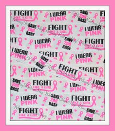 NEW 3 yards 7/8 Pink Fight BREAST CANCER by WhimsyRibbonShop, $5.95