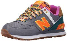 New Balance WL574V1, Damen Sneakers, Mehrfarbig (Grey/Green), 42.5 EU (8.5 Damen UK) - http://on-line-kaufen.de/new-balance/42-5-eu-new-balance-damen-wl574v1-sneakers-2