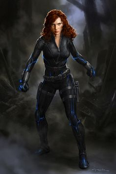 Avengers Black Widow concept art by Andy Park