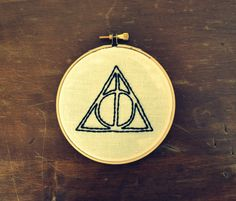 Harry Potter Deathly Hallows Embroidery.
