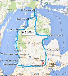 10 Unforgettable Road Trips To Take In Michigan Before You Die What could be better than a road trip through the Great Lakes State? Here are 10 incredible routes in Michigan that you'll want to explore. Michigan Vacations, Michigan Travel, Texas Travel, Family Vacations, Michigan Day Trips, Lake Michigan Vacation, Family Travel, Midwest Vacations, Traverse City Michigan