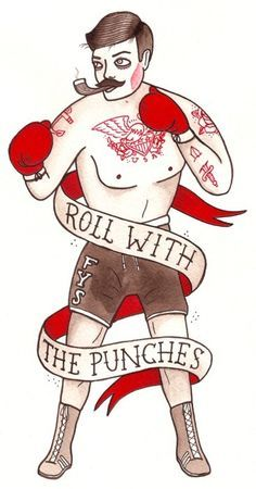 Image result for old timey boxer tattoo