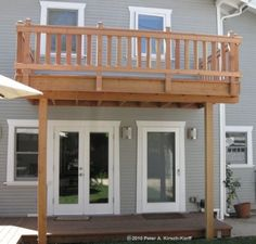 Second Story Decks With Stairs