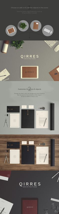 This add-on is a scene configured to design your hearder image or your stationery mock up. Just place the objects, customize them and choose your effect. There are 10 special effect ready to use in this PSD file. The background color & texture are editable. Use the add-ons to multiply the possibilities.