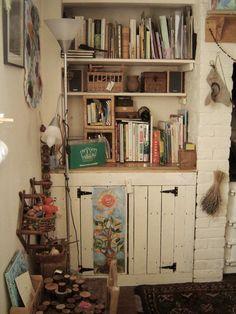 built-in cabinet & shelves