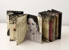 to make an accordian book, printing photos, rather than illustrations, on old pages. Moleskine by Juan Rayos 4 Artist Journal, Art Journal Pages, Art Journals, Accordian Book, Concertina Book, Accordion Fold, Sketchbook Inspiration, Art Sketchbook, Up Book