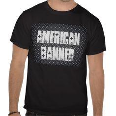 American Banned Black Diamond Men's Black T-shirt from www.zazzle.com/americanbannedtshirt
