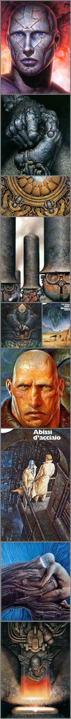 Oscar Chichoni -- illustrations from covers of Italian translations of 1980's & 90's science fiction (click through for details plus more art)