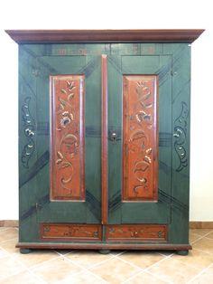 Bauernschrank  bemalt Antique Cabinet painted $1950.00