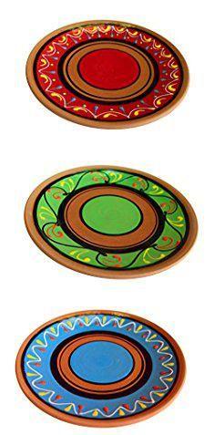 Terracotta Dinner Plates. Terracotta Salad Plates Set of 5 - Hand Painted From Spain.  sc 1 st  Pinterest & Melamine Plastic Plates. Melange 12-Piece 100% Melamine Dinnerware ...