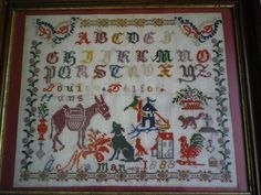 L'âne et le chien - Louise Deliot 1888 (M)