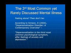 Depersonalization and Derealization a Self Cure - YouTube