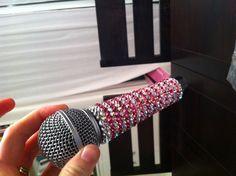 DIY Swarovski crystal microphone