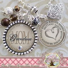 Personalized MOM Grandma NECKLACE Bottle cap (or Keychain), Only The Best Moms Get Promoted To Grandmas, Grandma Jewelry Children's Names