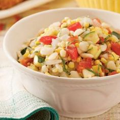 Summer Succotash Salad from EatingWell.com #myplate #vegetables
