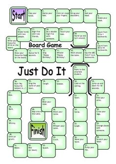 Board Game - Just Do It worksheet - iSLCollective.com - Free ESL worksheets