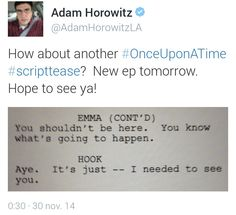Adam's Twitter..I'm already crying