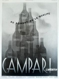 Campari aperitif poster vintage advertising original ad by OldMag
