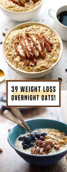 39 Overnight Oats That Make The Best Weight Loss Breakfast Ever! – Emma Burge 39 Overnight Oats That Make The Best Weight Loss Breakfast Ever! 39 Overnight Oats That Make The Best Weight Loss Breakfast Ever! Healthy Desayunos, Healthy Drinks, Healthy Snacks, Healthy Eating, Healthy Recipes, Healthy Weight, Healthy Breakfasts, Quick Oat Recipes, Clean Eating