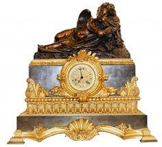 LOUIS-PHILIPPE GILT-BRONZE MANTLE CLOCK, circa 1860 Mantel Clocks, Mantle, Tree Camping, Retro Clock, Fine Art Auctions, Antique Auctions, Classic Collection, French Antiques, Bronze